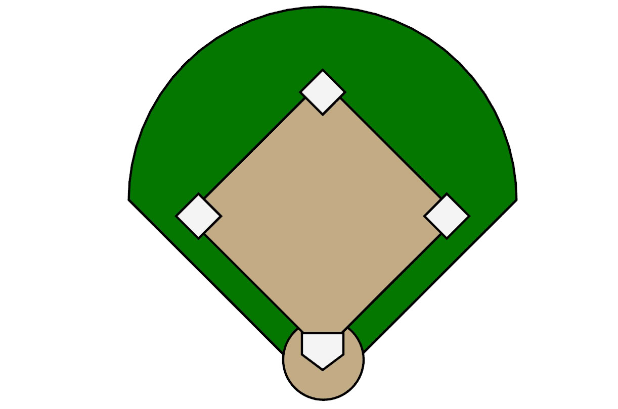 Baseball diamond vector