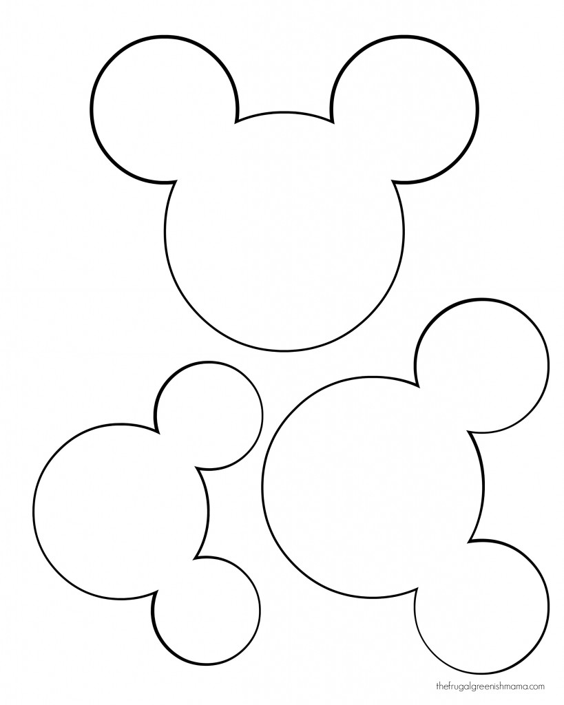 Breathtaking image in mickey mouse head printable cutouts