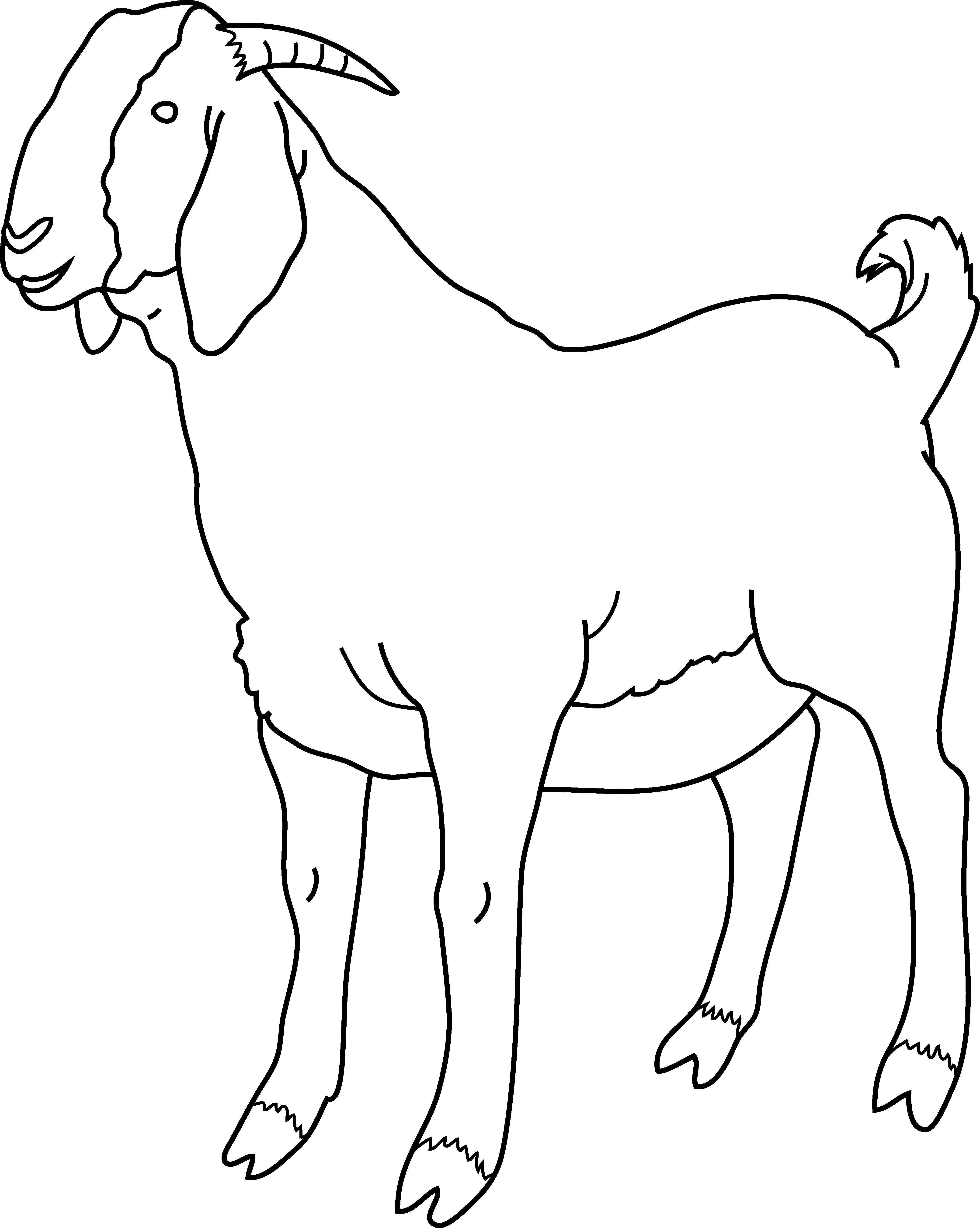Goat Clipart Cliparts Co Clip Coloring Pages