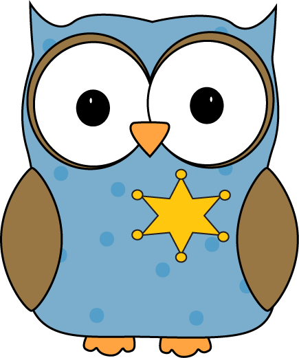 Owl Classroom Sheriff or Monitor Clip Art - Owl Classroom Sheriff ...