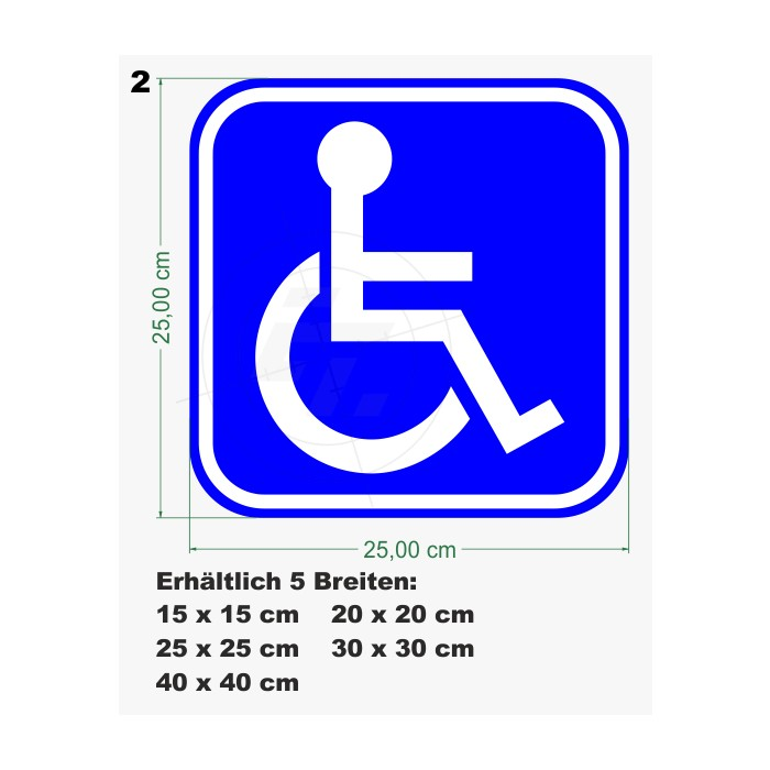 Sticker Disabled Persons Sick Persons Transport