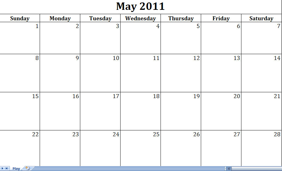 blank calendars for march 2011
