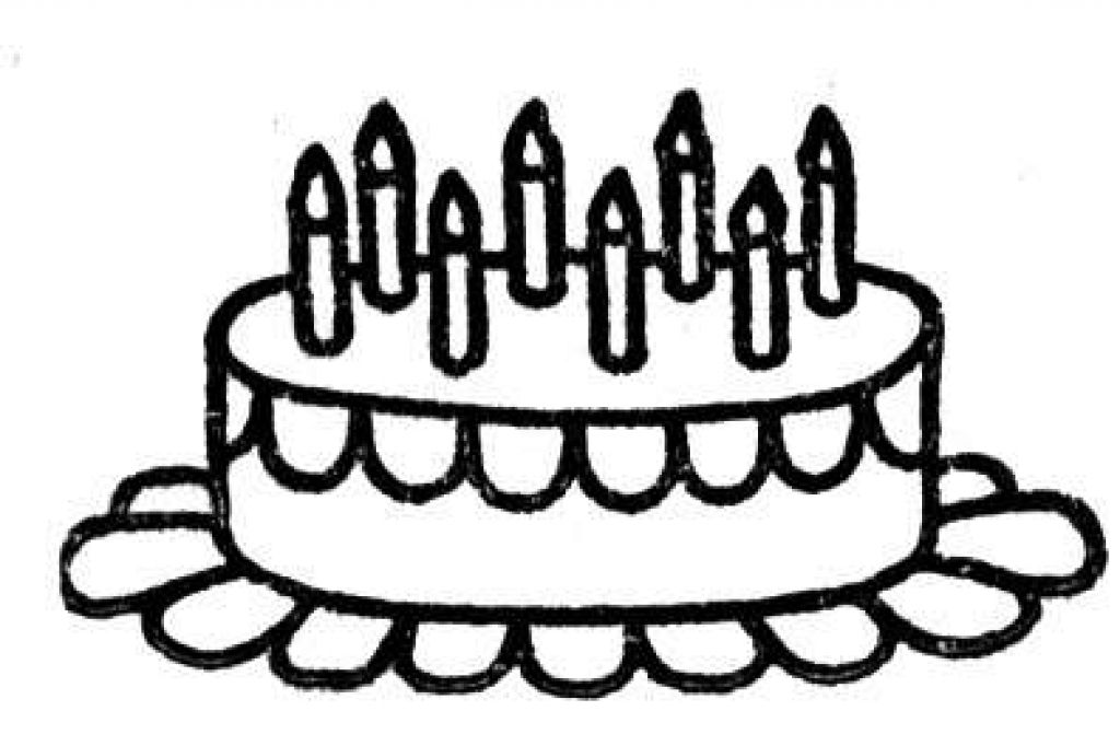 Birthday Cake Coloring Pages - Free Coloring Pages For KidsFree ...