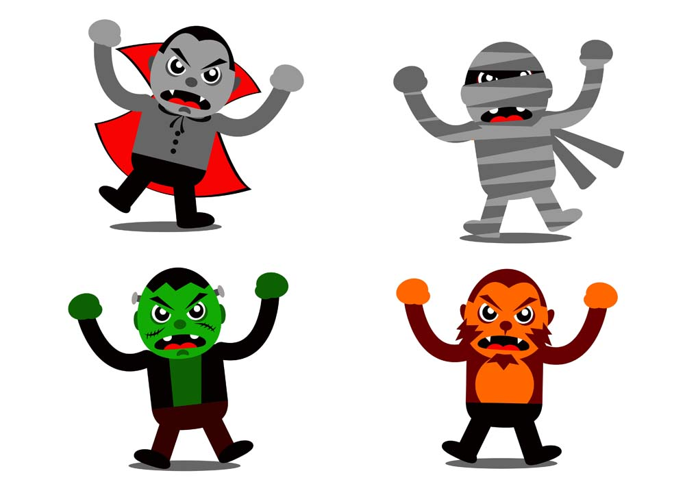 Halloween Monsters Clipart | Free Internet Pictures