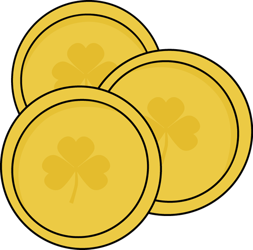 Gold Saint Patrick's Day Coins Clip Art - Gold Saint Patrick's Day ...