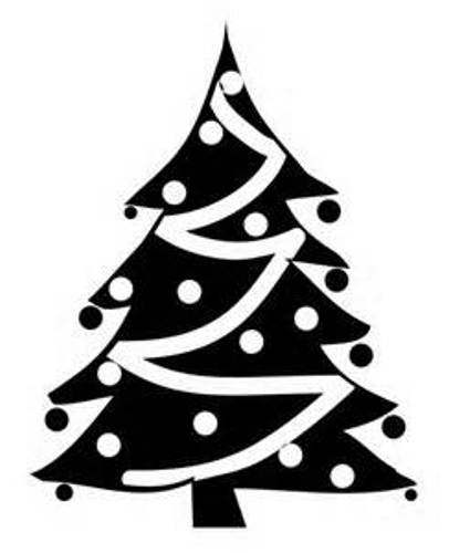 Pics Photos - Clipart Black And White Christmas Tree Pictures