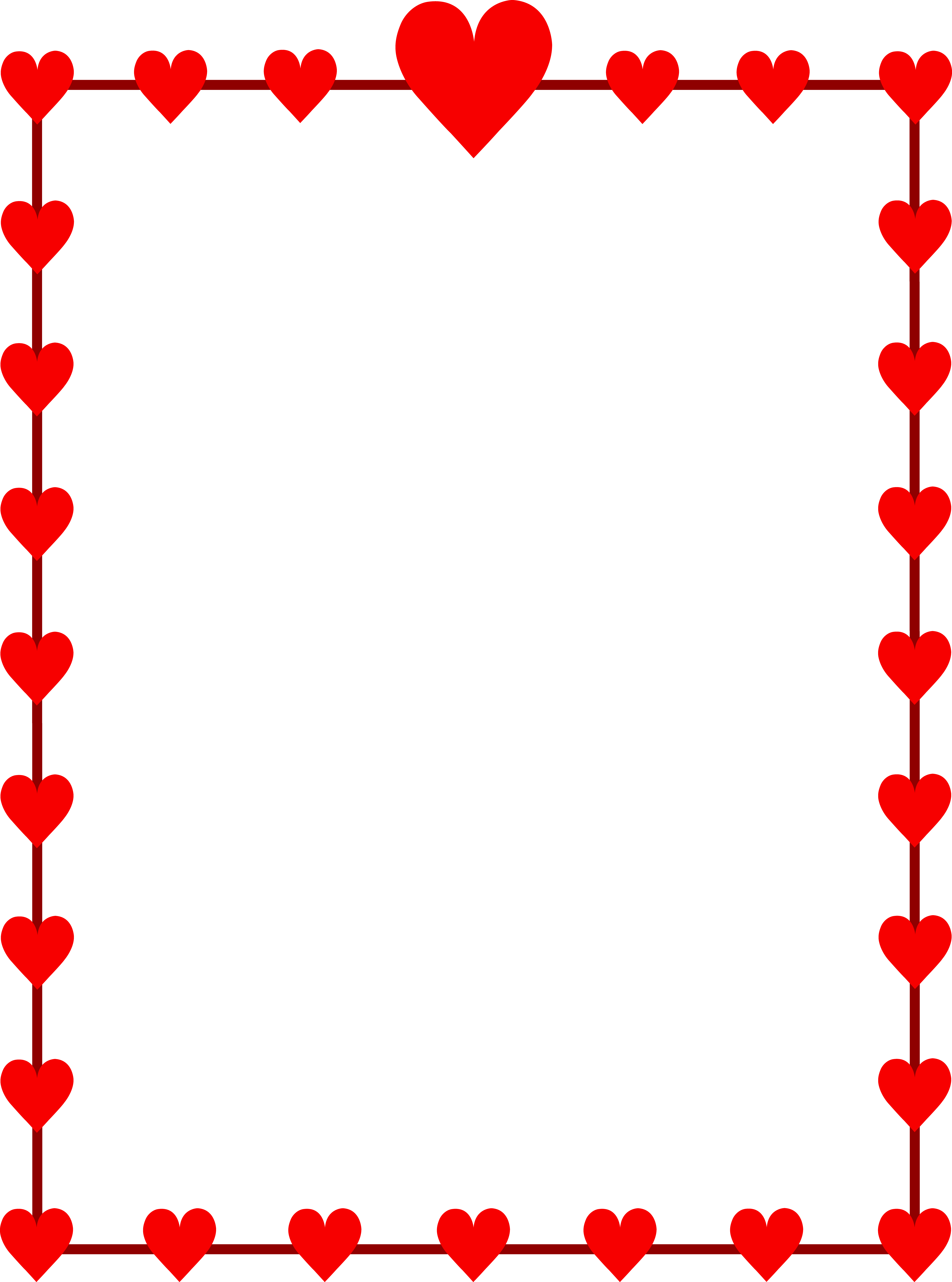 Hearts Border Clipart | Clipart Panda - Free Clipart Images