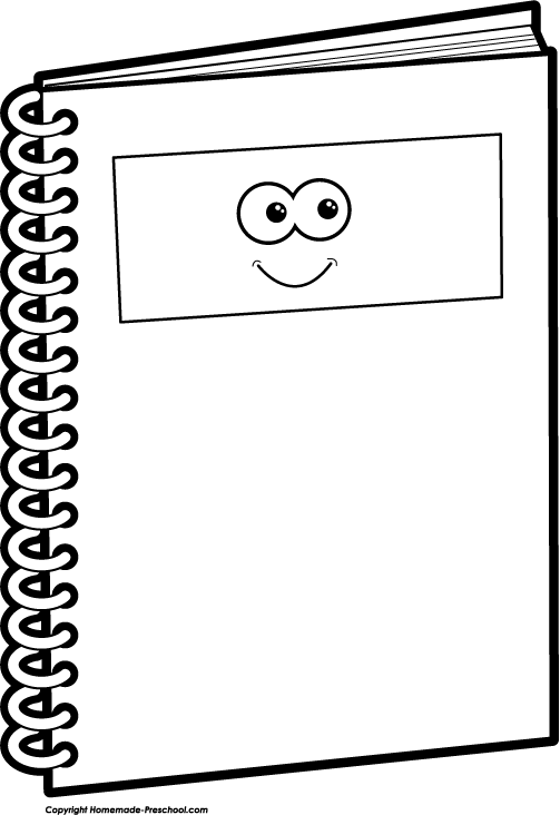 Picture Of A Notebook - Cliparts.co
