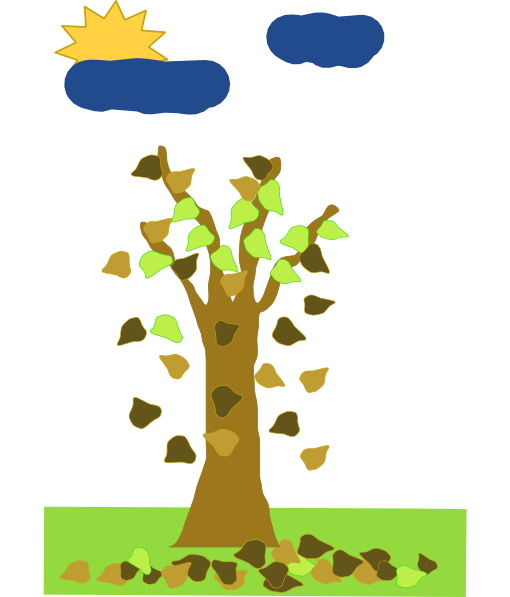 Tree With Leaves Falling clip art Free Vector / 4Vector