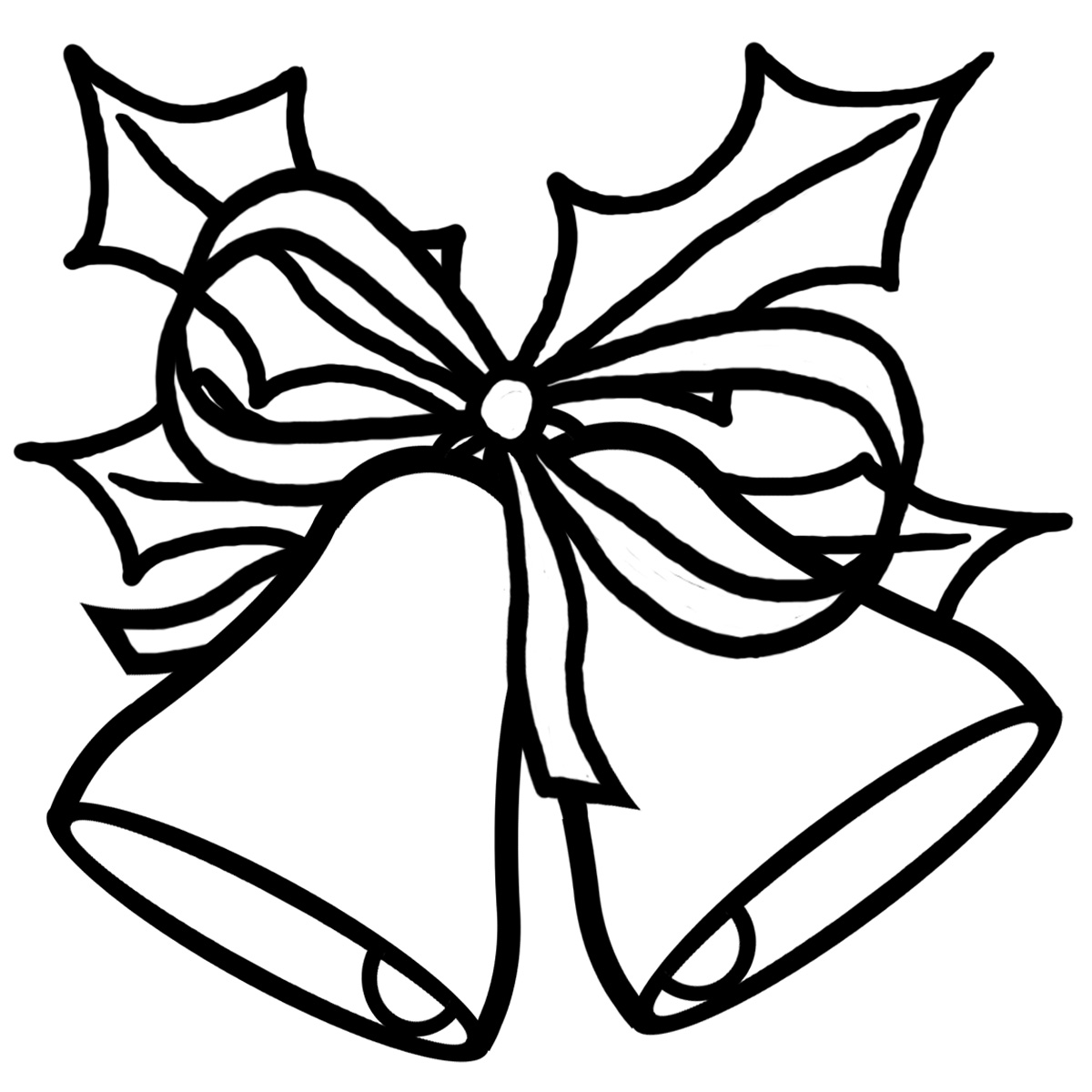 Christmas Tree Outline Clip Art Painting Clip Art Black And White ...