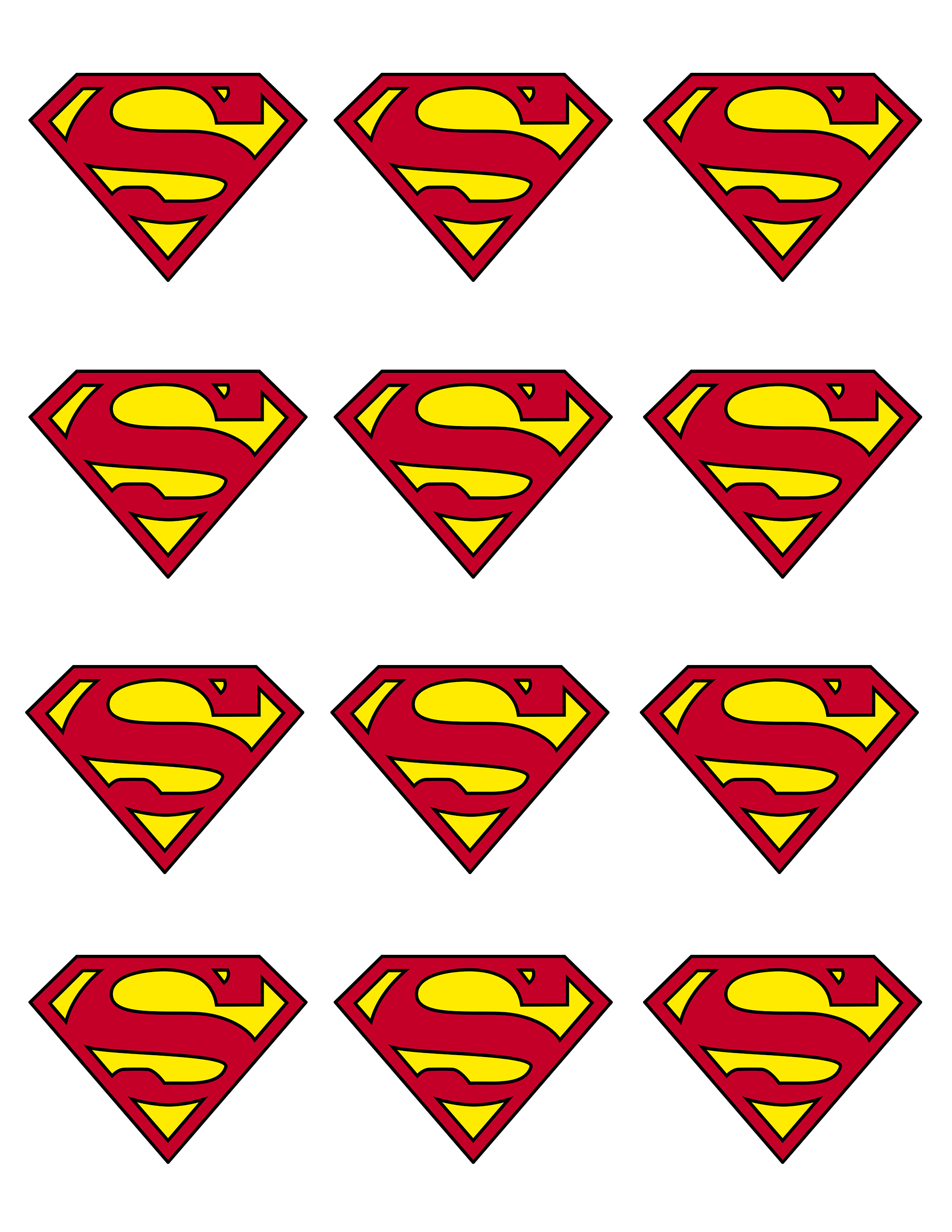 Influential image with superman logo printable