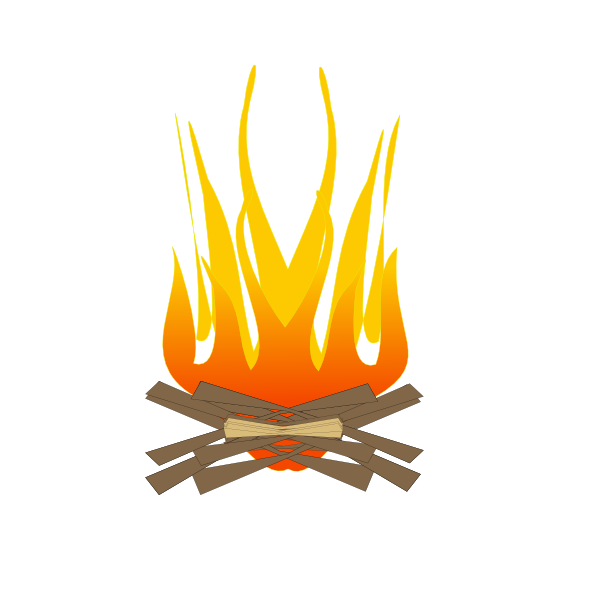 Camping Fire clip art - vector clip art online, royalty free ...