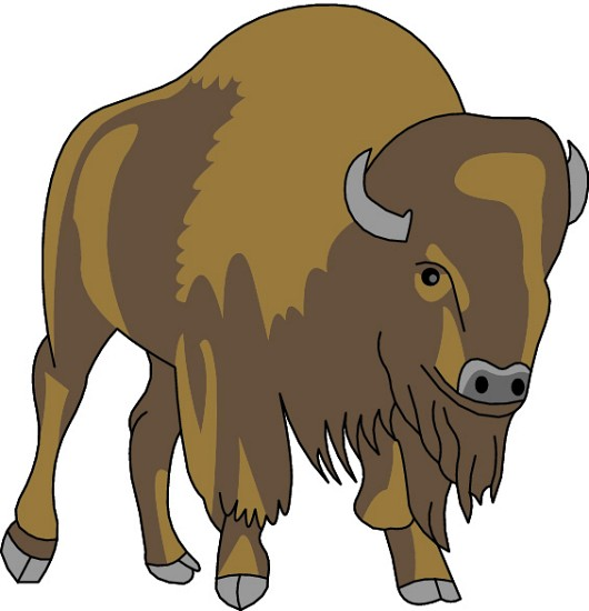 Buffalo Clipart : 11-12-07_02e : Classroom Clipart