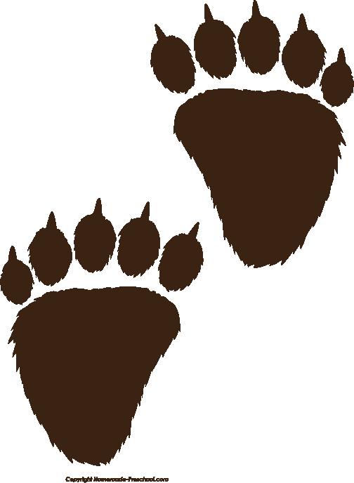 Bear Paw Print Clip Art - Cliparts.co