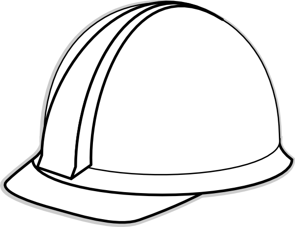 White Hard Hat clip art - vector clip art online, royalty free ...