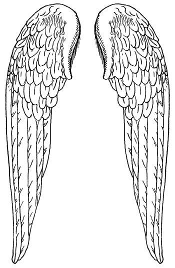 Monster image regarding printable angel wings