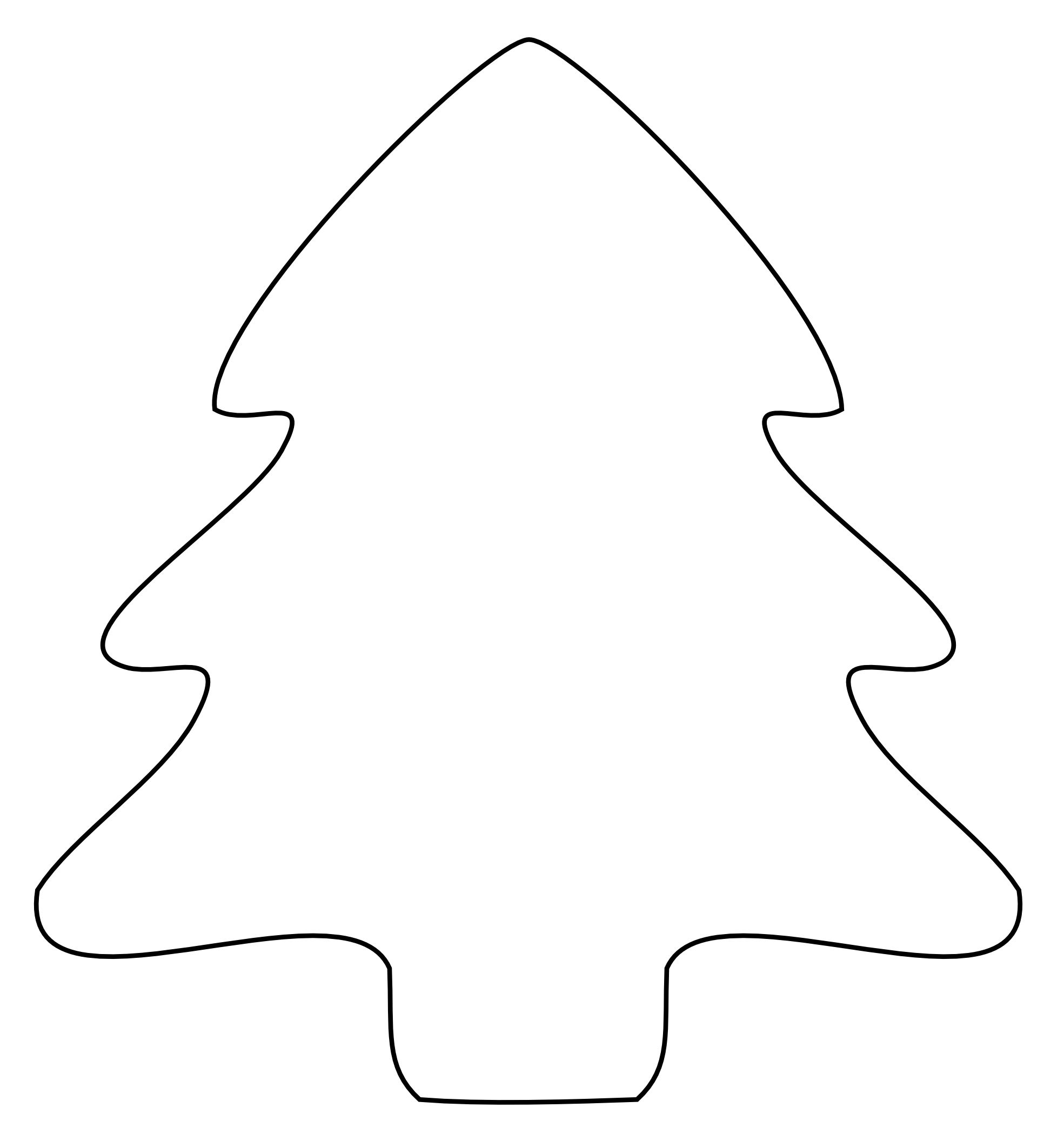 Xmas Stuff For > Christmas Tree Outline Clip Art
