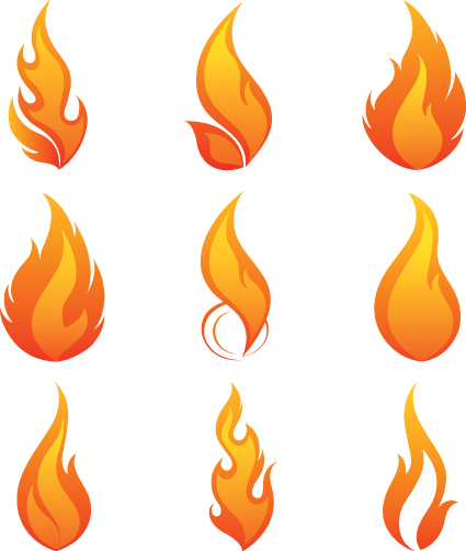 Different Flames icons design vector 01 - Other Icons free download