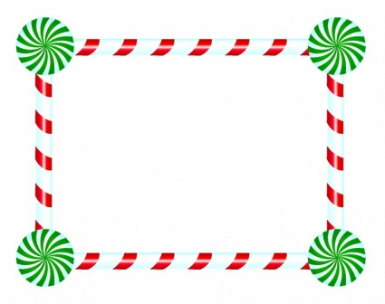 Candy Cane and Peppermint Frame Vector misc - Free vector for free ...