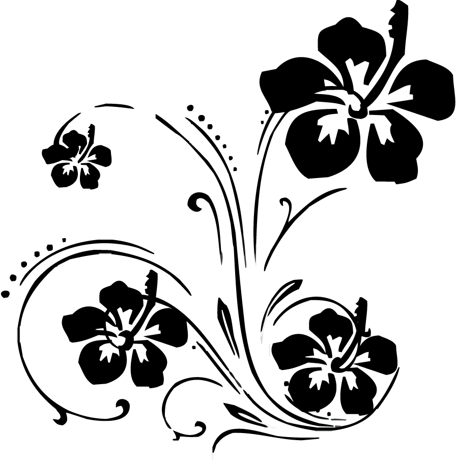 Line Art Flower Design Clipart : Floral swirl cliparts