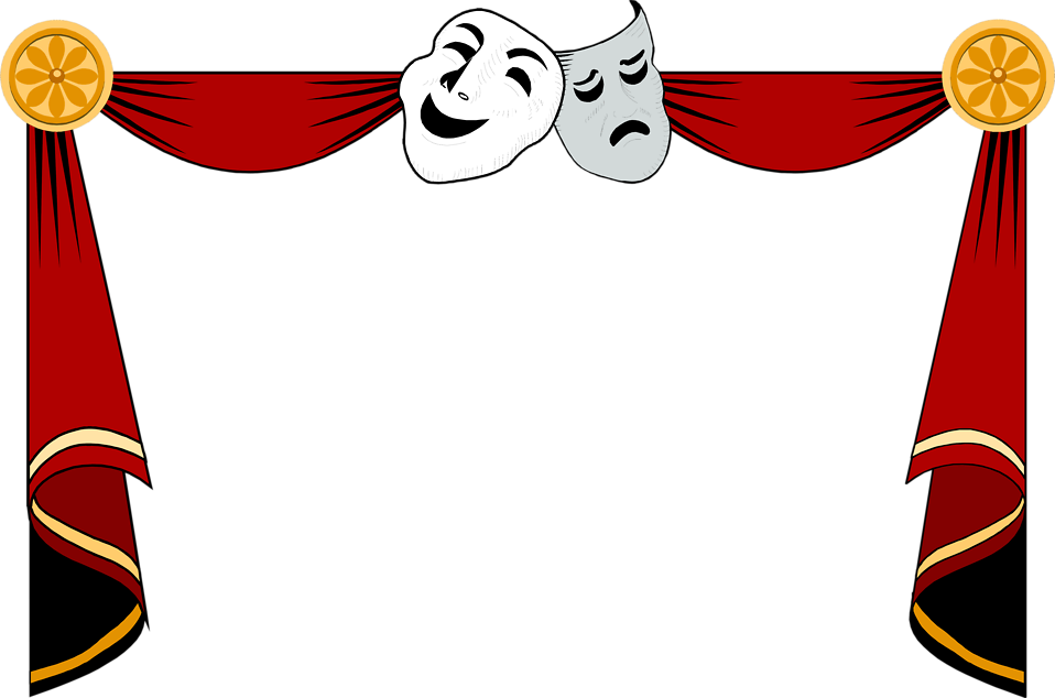 Curtains | Free Stock Photo | Illustration of a drama masks and ...