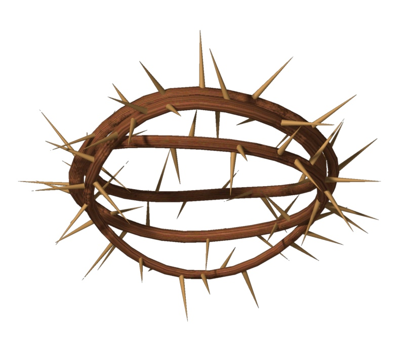 "Crown of Thorns ""1"" Trendy Bible Educational Clip Art"