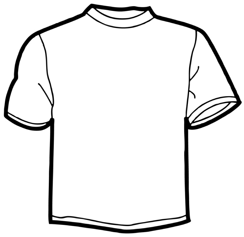 Tee Shirt Outline - Cliparts.co