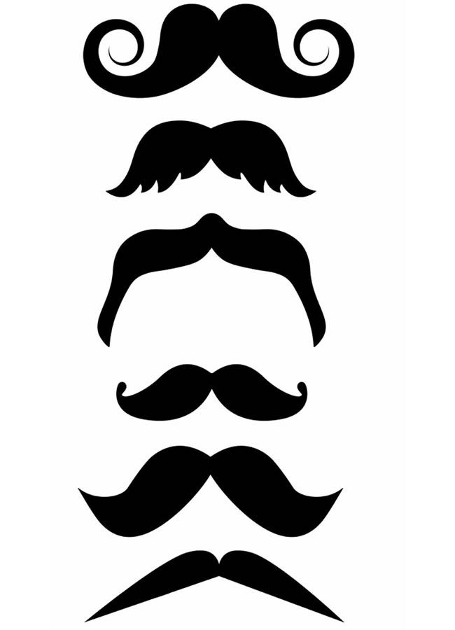 Moustache template printable pictures to pin on pinterest for Mustache print out template