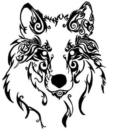 c12b1f1d DeviantArt: More Artists Like Tribal Wolf Head By Silent-howl ...