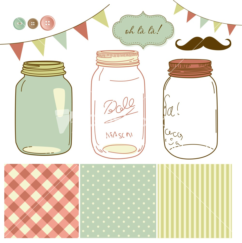 Mason Jar Vector - Cliparts.co
