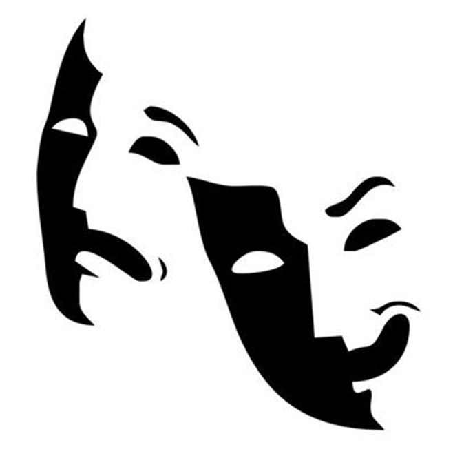 Theater Masks Vinyl Wall Decal Sticker Home Decor | eBay