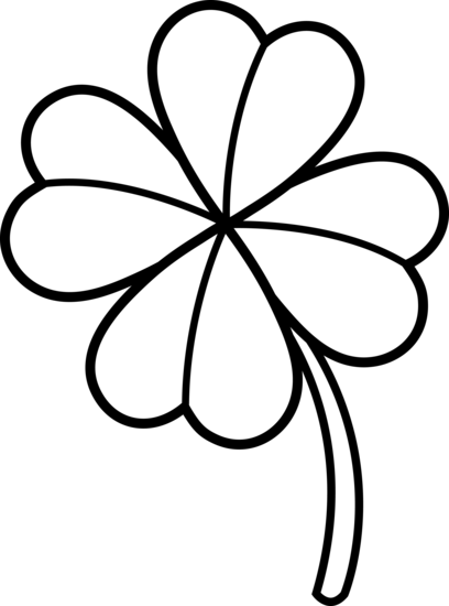 Four Leaf Clover Outline - Cliparts.co