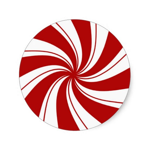 Peppermint Candy - sticker | Zazzle