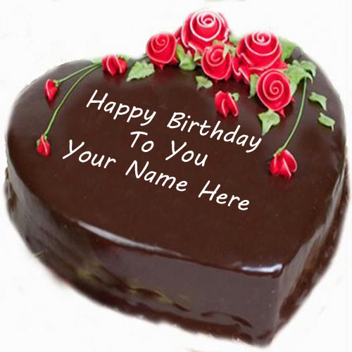 Birthday Wishes Cute Star Shaped Cake Name Picture