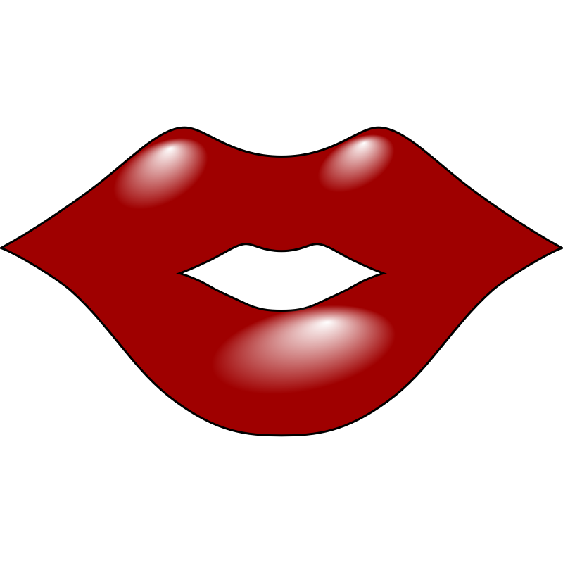 Clipart - Red Lips