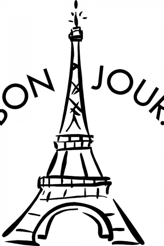 Eiffel Tower Coloring Page Images, Stock Photos & Vectors ... | 960x640