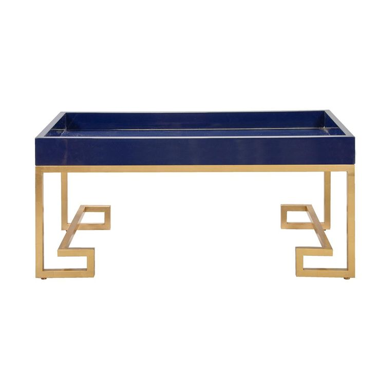 Lacquered Tray Greek Key Coffee Table Available in 6 Colors: green, g ...