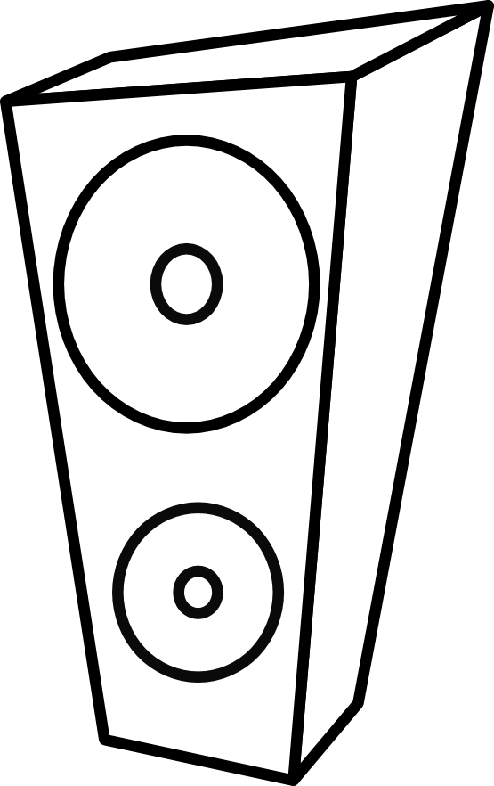 lemmling speaker black white line art artist coloring book ...