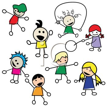 Kids Playing Games Clip Art Kids playing summer clipart