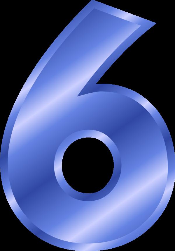 Number 6 - vector Clip Art