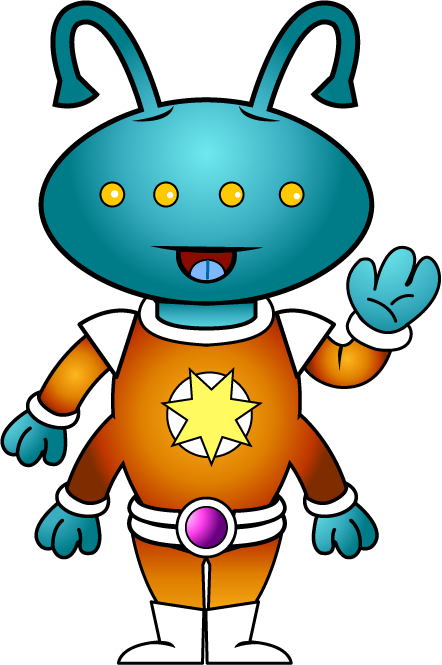 Free Clip-Art: Fantasy & Sci-Fi » Science Fiction » Little Alien