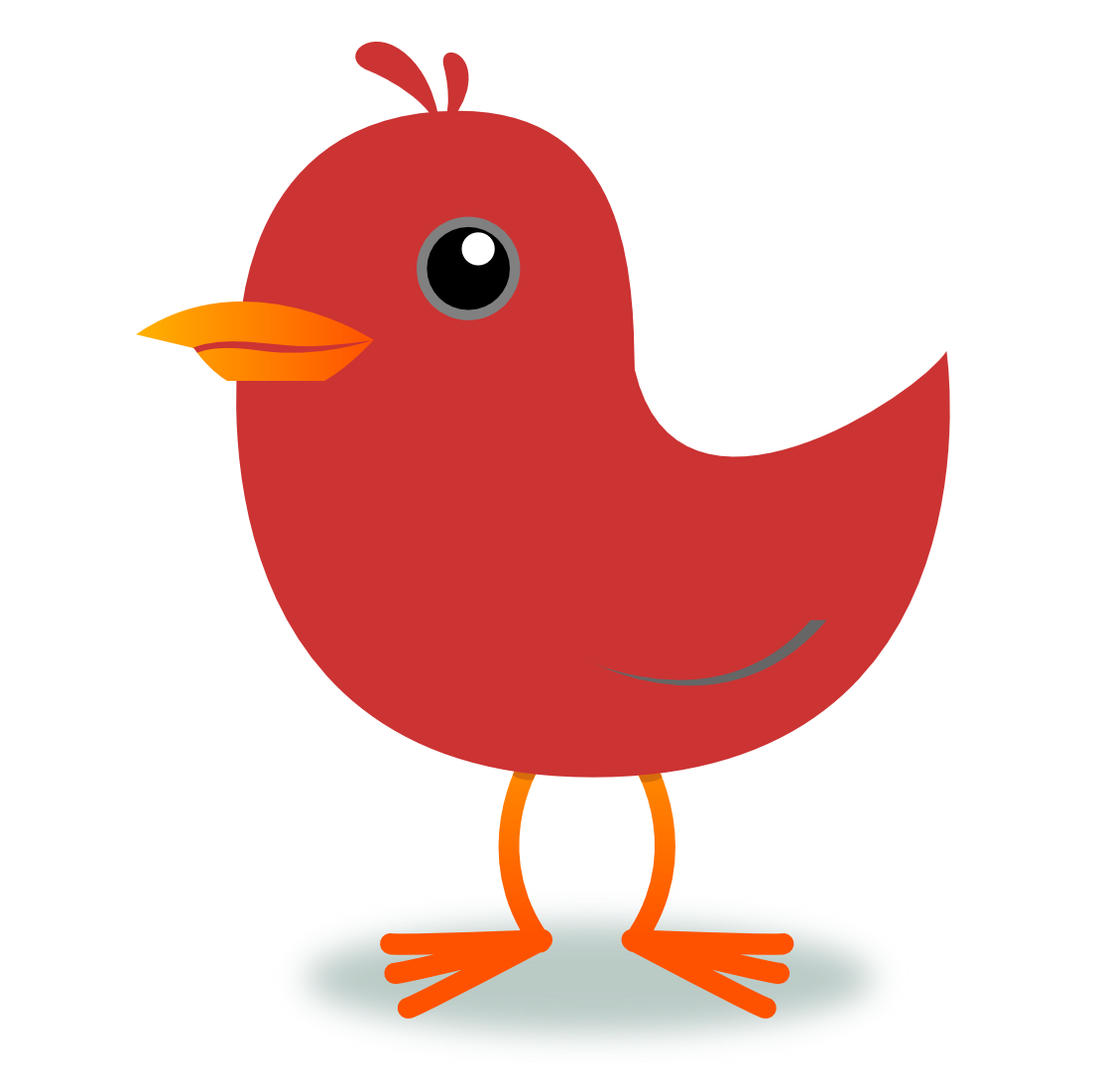 Red Bird Clip Art - Cliparts.co