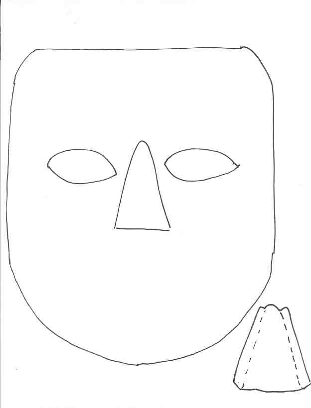 How to draw drama masks clipartsco for Ancient greek mask template