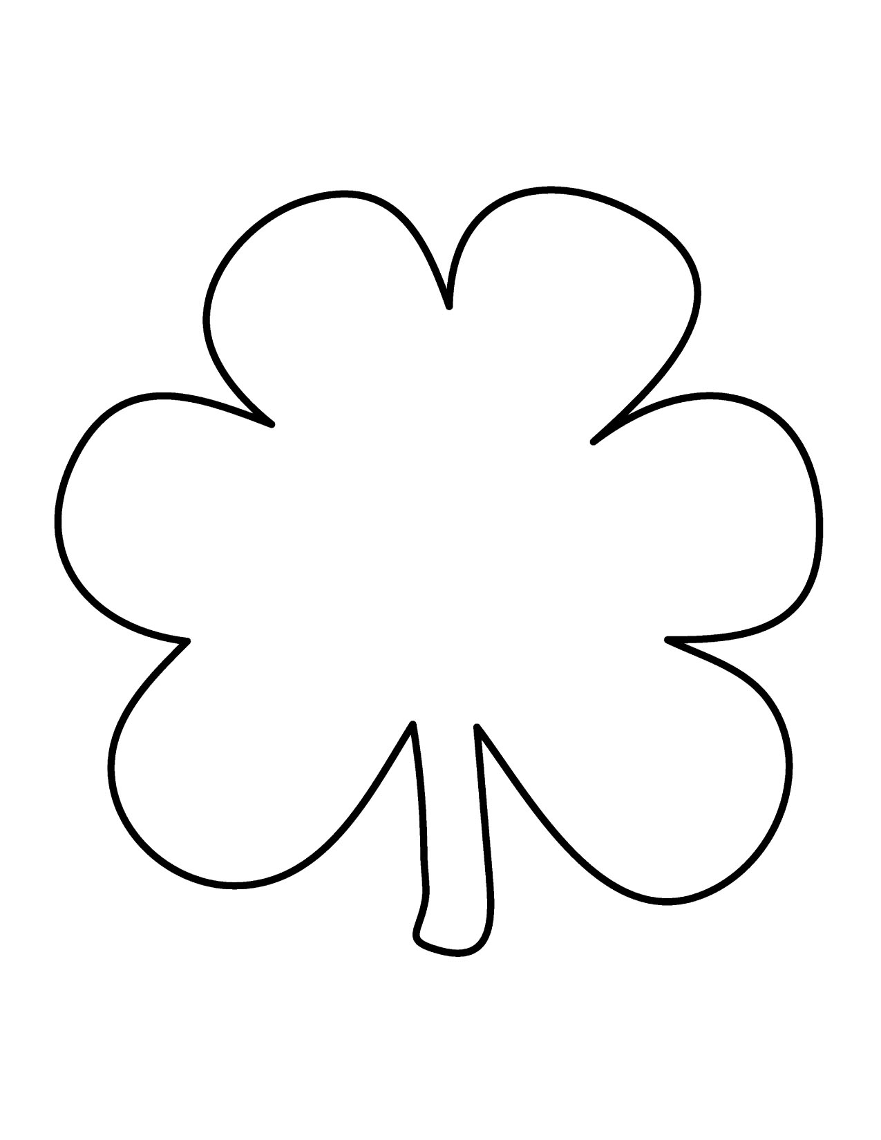 small shamrock coloring page images