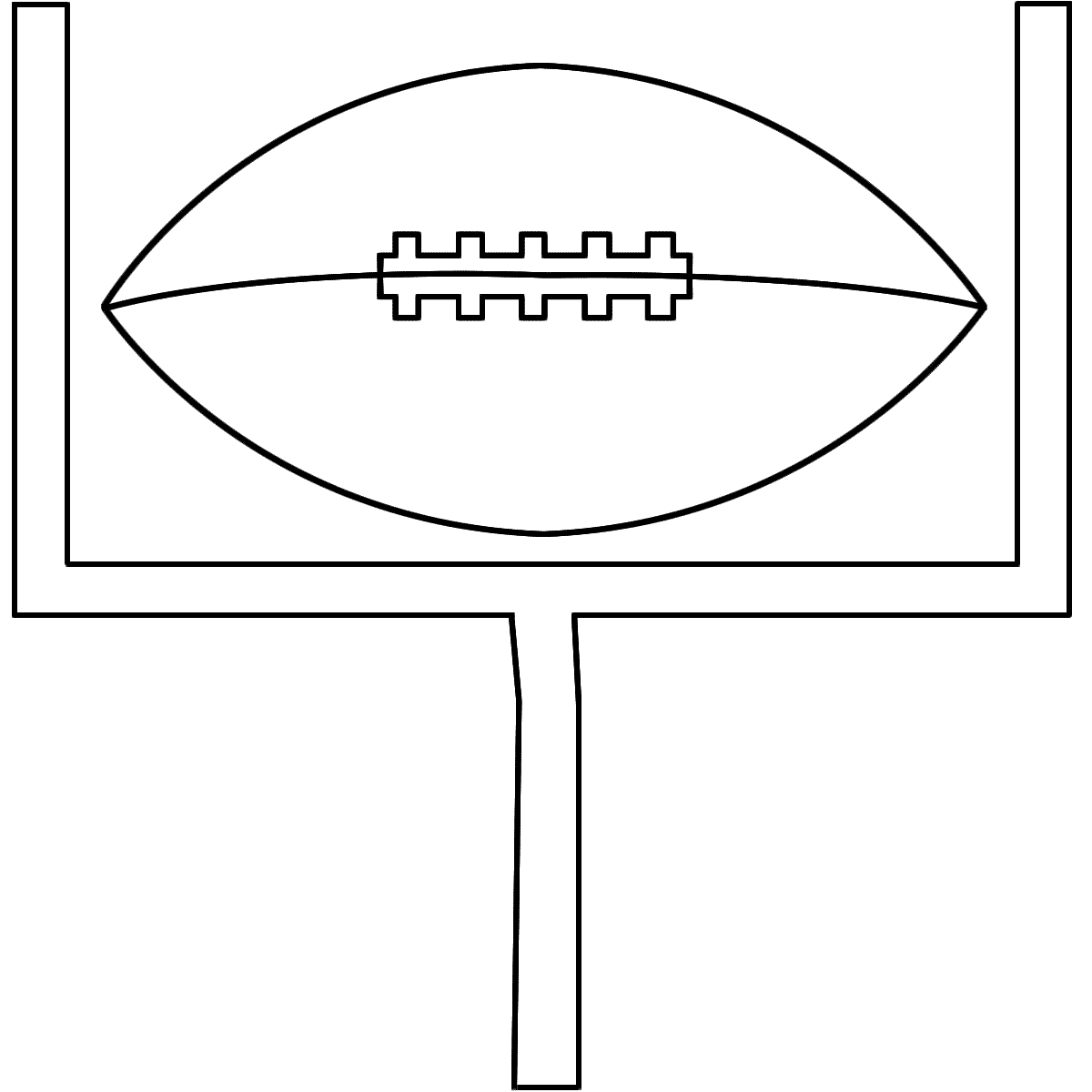 Football Field Goal Coloring Page