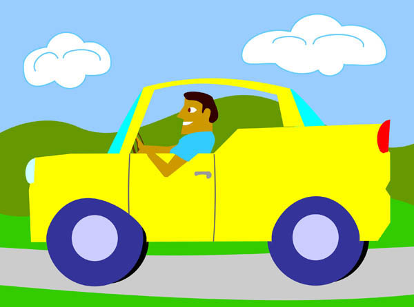 clipart car driving on road - photo #25