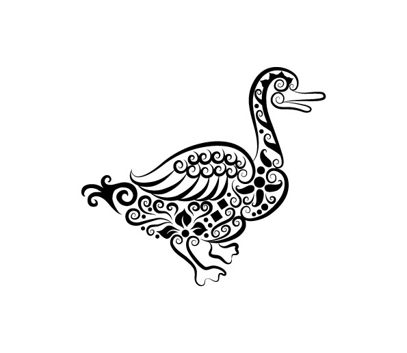 Vector Line Art Animals : Line drawing of animals cliparts