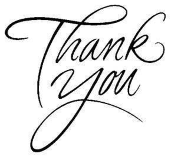 Line Art Thank You : Free line clipart cliparts