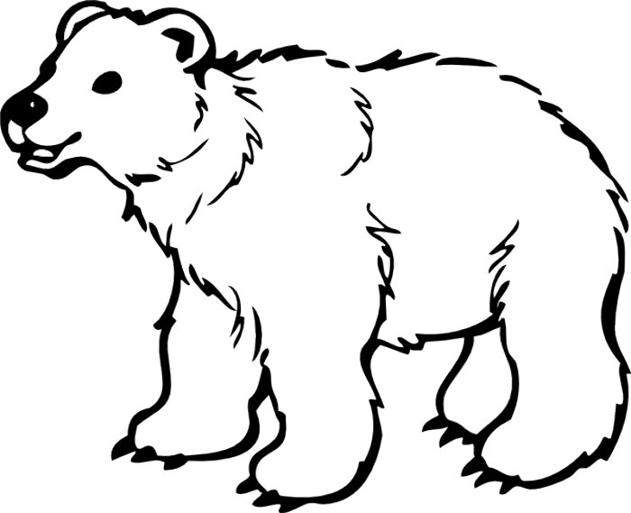Clipart Black And White Bear - ClipArt Best