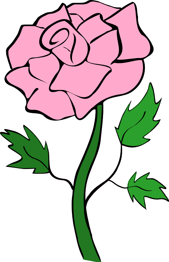 Clip Art Roses And Hearts